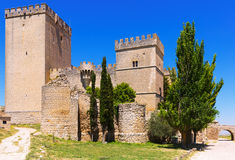 Castle of  Ampudia in summer day.   Province of Palencia Royalty Free Stock Photos