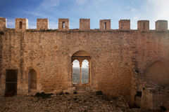 Castle. An ancient fortress wall. View from inside the castle Stock Image