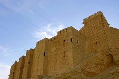 Castle in ancient Palmyra, Syria Royalty Free Stock Images