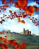 Castle And Leaves Royalty Free Stock Images