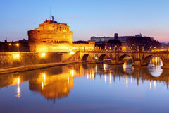 Castle Angelo, Rome at night Stock Photography