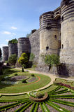 Castle of Angers in France Stock Image