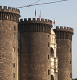 Castle angioino Royalty Free Stock Images