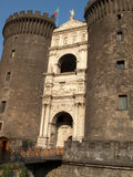 Castle angioino Stock Photography