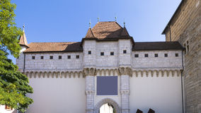 Castle Annesy , France. Castle gate , Annecy, Savoy, France Royalty Free Stock Photography