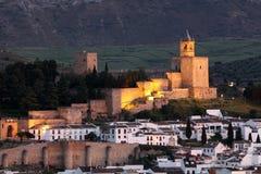 Castle Antequera, Ισπανία Στοκ εικόνα με δικαίωμα ελεύθερης χρήσης