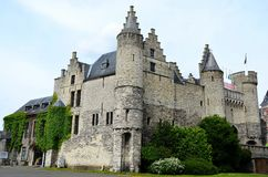 Het Steen Castle in Antwerpen Stock Photo
