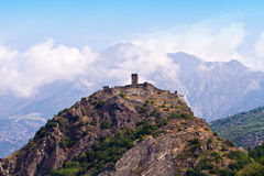 Castle in Aosta Royalty Free Stock Images