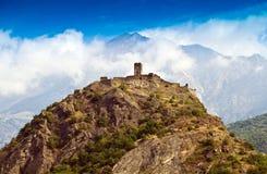 Castle in Aosta Stock Photo