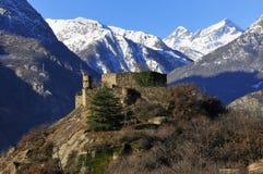Castle in Aosta Valley Royalty Free Stock Photos