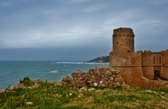 The Castle Aragonese. There are a view of the Castle Aragonese in Calabria (Italy Stock Photos