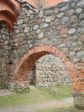 Castle arch. Old castle arch made of rocks Stock Photos