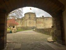 The castle through the arch 2017. Skipton castle Yorkshire Stock Photos