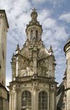 Castle architecture detail. Columns and pinnacle stone carved at french chateau chambord loire valley Stock Photos