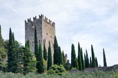Castle Arco Di Trento - Στοκ Εικόνες