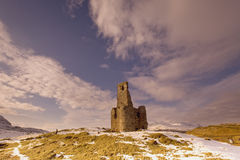 Castle Ardvreck. Ruins of Castle Ardvreck at Loch Assynt on the west coast of Scotland Stock Image