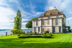 Castle arenenberg. Summer mood with blue cloud sky Royalty Free Stock Photos