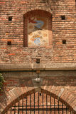 Castle artwork. The artwork on the wall above the entrance to Sforza Castle, Milan, Italy Royalty Free Stock Images