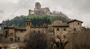 The castle of Assisi - HDR Royalty Free Stock Photos