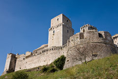 Castle, Assisi, Umbria Royalty Free Stock Photos