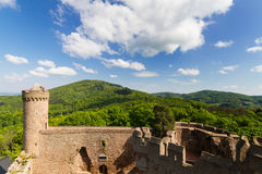 Castle Auerbach in spring. Hessen, Germany Stock Image