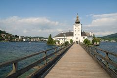 Castle in Austria. Ort Castle, one of the famous tourist attraction of Gmunden in Austria Stock Photo