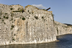 Castle of Ayia Mavra at Lefkada, Greece Stock Photos