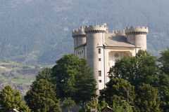 The castle of Aymavilles Royalty Free Stock Photography