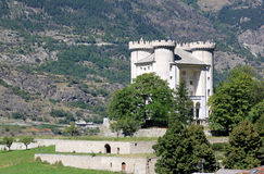 Castle of Aymavilles, Aosta Valley, North-Italy Stock Image