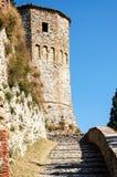 Castle of Azzurrina. A view of Azzurrina's castle in Montebello, Rimini Royalty Free Stock Photos