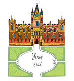 Castle background - sketchy hand drawn illustration Royalty Free Stock Photography