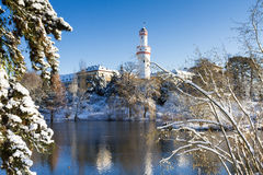 Castle Bad Homburg in the snow Royalty Free Stock Photos