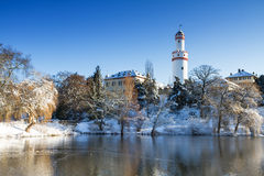 Castle Bad Homburg in the winter Stock Photo