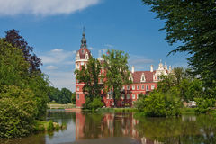 Castle of Bad Muskau Stock Images