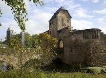 Castle of Bad Vilbel. View to ruins of castle, Bad Vilbel, Hessen, Germany Stock Image