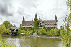 Castle in bad weather. Royalty Free Stock Image