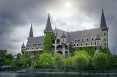 Castle in bad weather. Royalty Free Stock Images