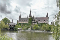 Castle in bad weather. Stock Photography