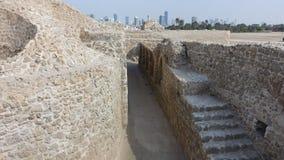 Castle of Bahrain traces stock photos