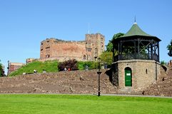 Castle and bandstand, Tamworth. Royalty Free Stock Image