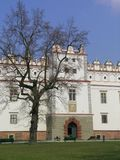 Castle in Baranow Sandomierski. Part of old castle in Baranow Sandomierski (Poland royalty free stock images
