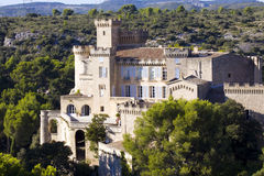 Castle of Barben. Chateau de la Barben in South France royalty free stock photography