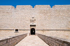 Castle of Barletta. Puglia. Italy. Perspective of the Castle of Barletta. Puglia. Italy stock photo