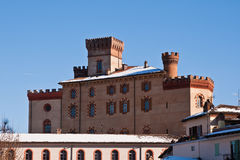 Castle of Barolo Stock Photography