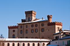 Castle of Barolo stock photography
