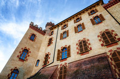 Castle of Barolo Piedmont, Italy Stock Photos