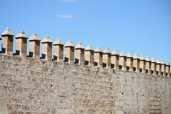 Castle battlements Royalty Free Stock Photo