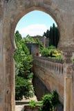 Castle Battlements, Alhambra Palace. Royalty Free Stock Image