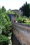 Castle Battlements, Alhambra Palace. Stock Image