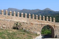 Castle battlements Royalty Free Stock Image
